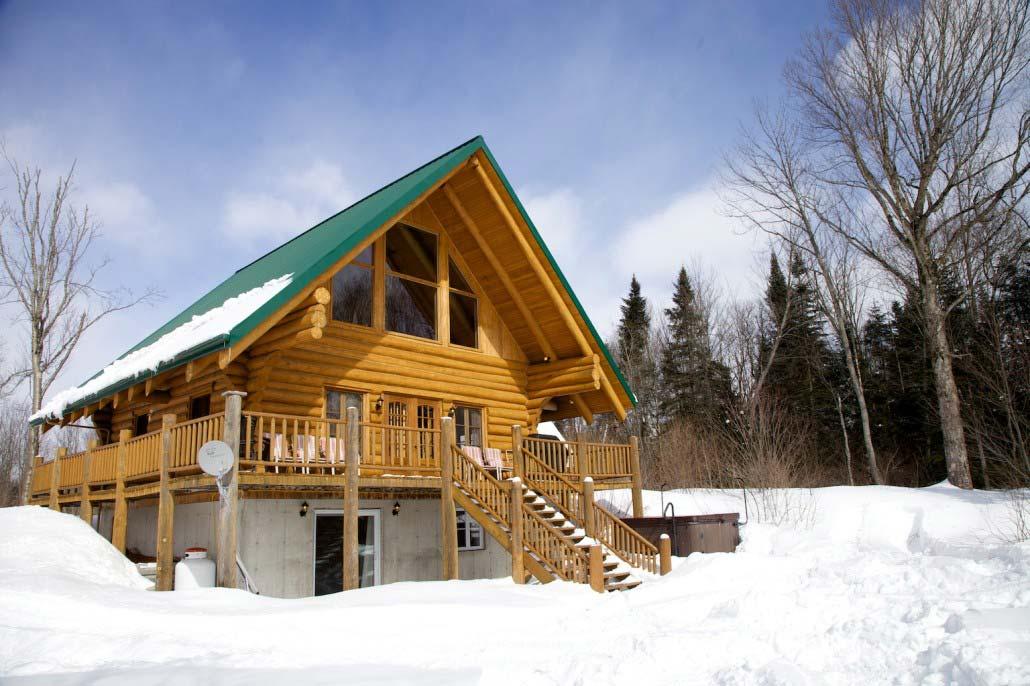 Chalet en bois rond Le Klondike
