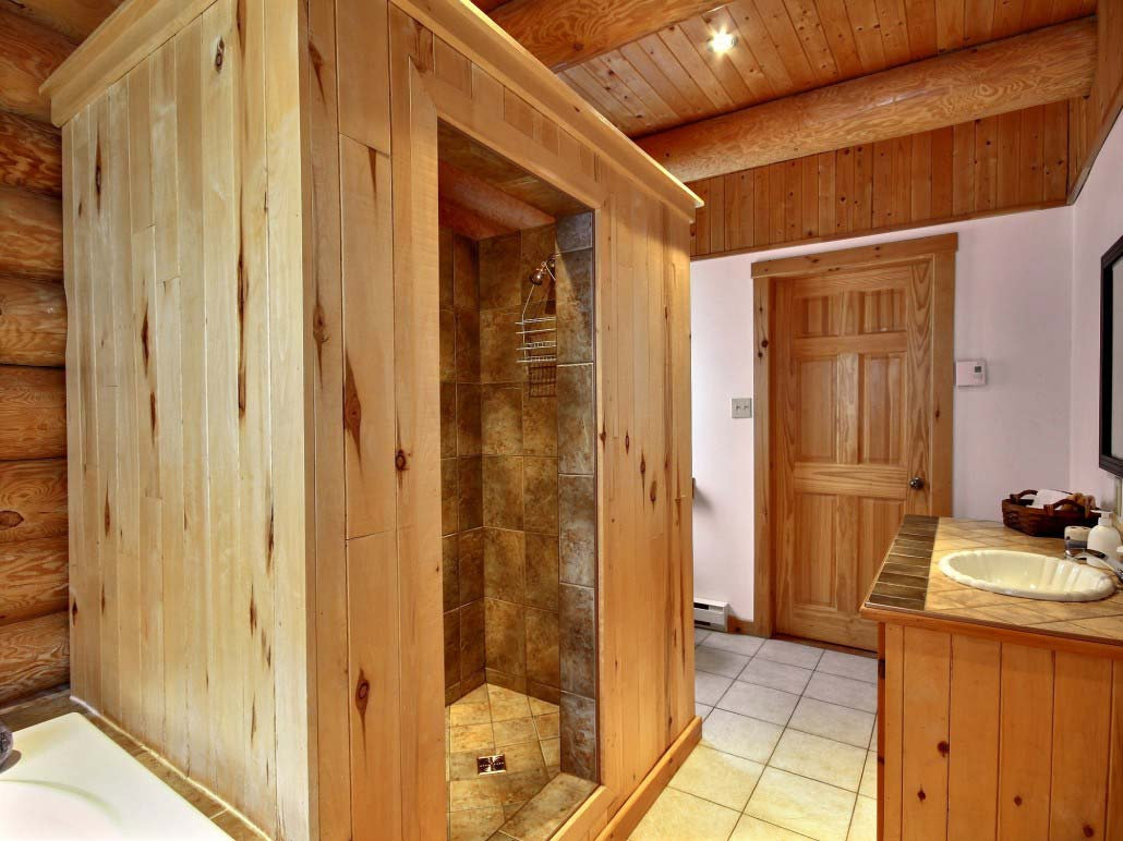 Douche Chalet Ours Blanc