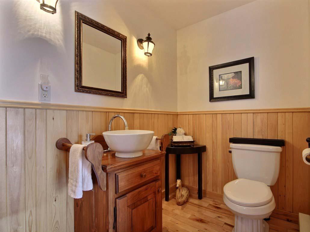 Salle de bain de maitres Chalet Le Wapitik