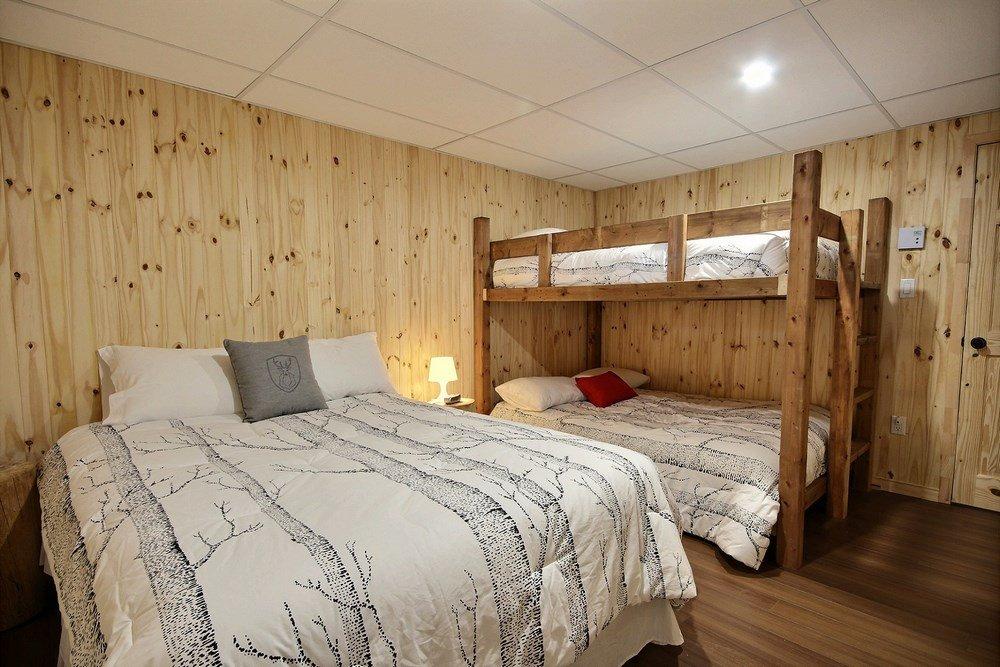 Chalet en bois rond L'Aigle-Noir - Chambre-1