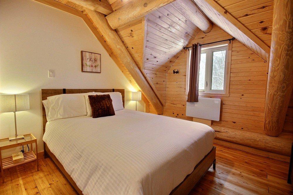 Chalet en bois rond Le Perce-Neige - Chambre 1