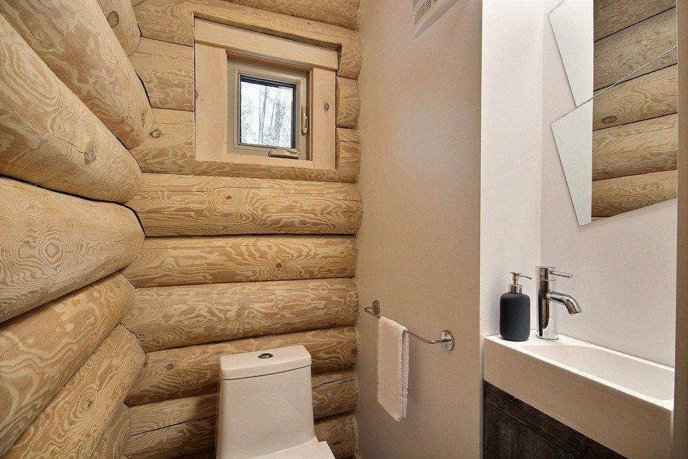 Chalet en bois rond Le Perce-Neige - Salle de bain 5