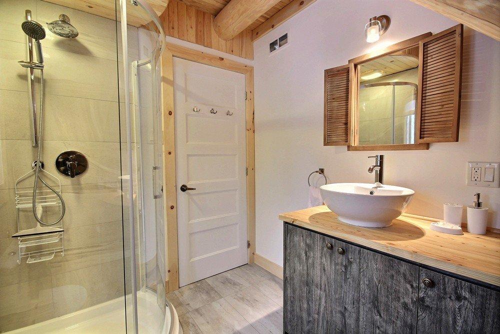 Chalet en bois rond Le Perce-Neige - Salle de bain 4
