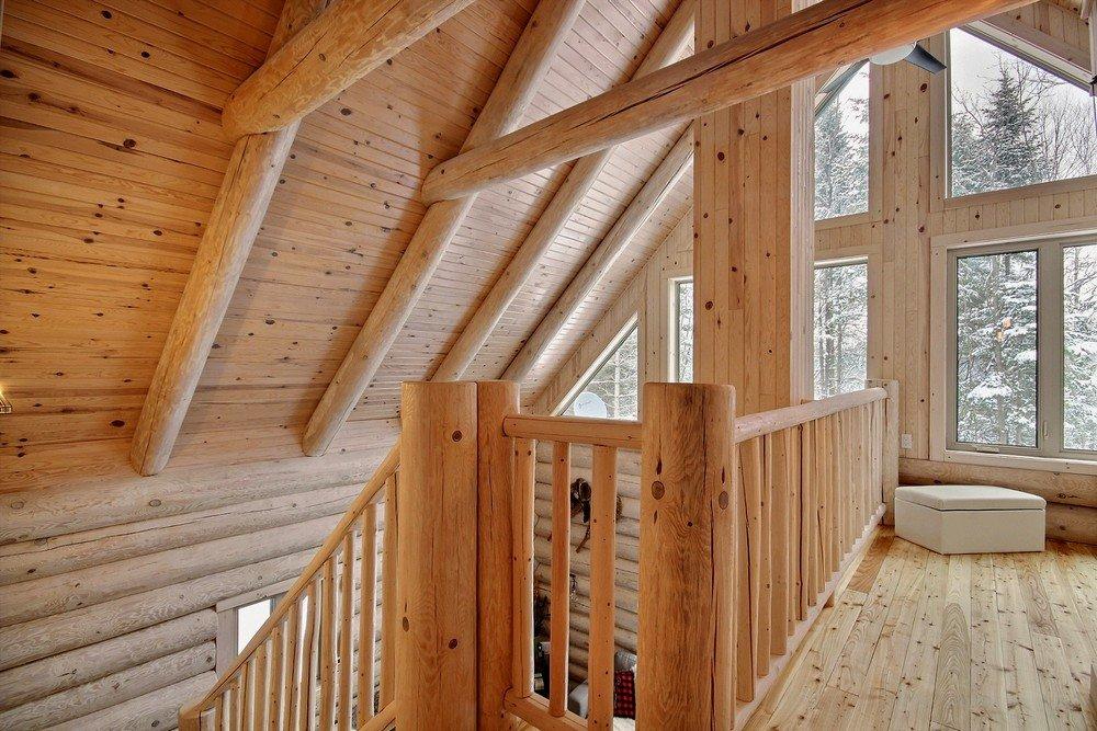 Chalet en bois rond Le Perce-Neige - Mezzanine