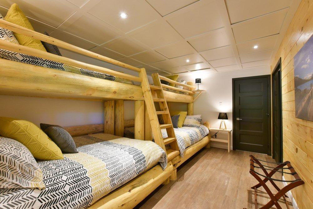 Chalet en bois rond Le Perséides - Chambre-2