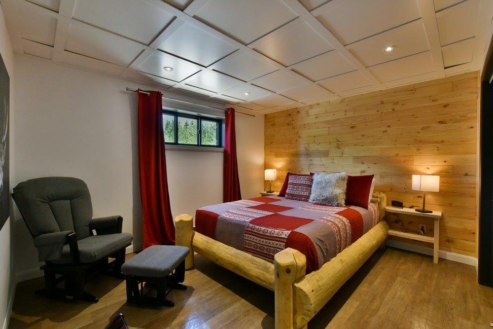 Chalet en bois rond Le Perséides - Chambre-5
