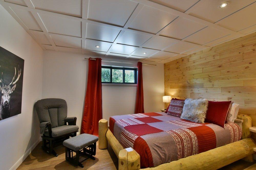 Chalet en bois rond Le Perséides - Chambre-7
