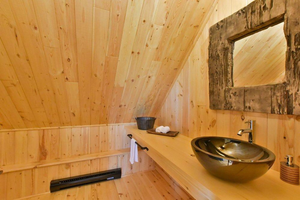 Chalet en bois rond Le Perséides - Salle de bain-2