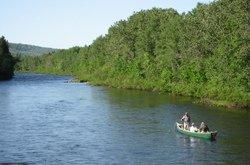 Parcours de la rivière en canot