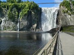 Montmorency Falls near the City of Quebec
