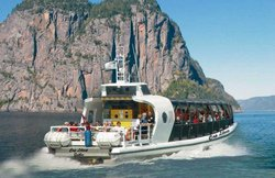Boat cruise on the Saguenay Fjord