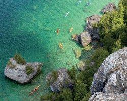 Les eaux turquoise de la Péninsule Bruce