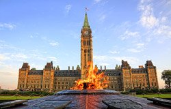 The Centennial Flame in front of the Parliament of Ottawa