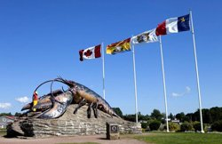 Giant lobster, village of Shediac
