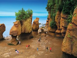 Hopewell Rocks, Baie de Fundy, Nouveau-Brunswick