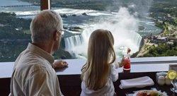 Observation des chutes Niagara depuis la Tour Skylon