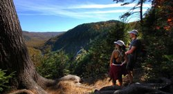 Hiking in the trails of Bras-du-Nord