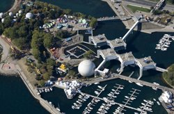Aerial view of Ontario Place