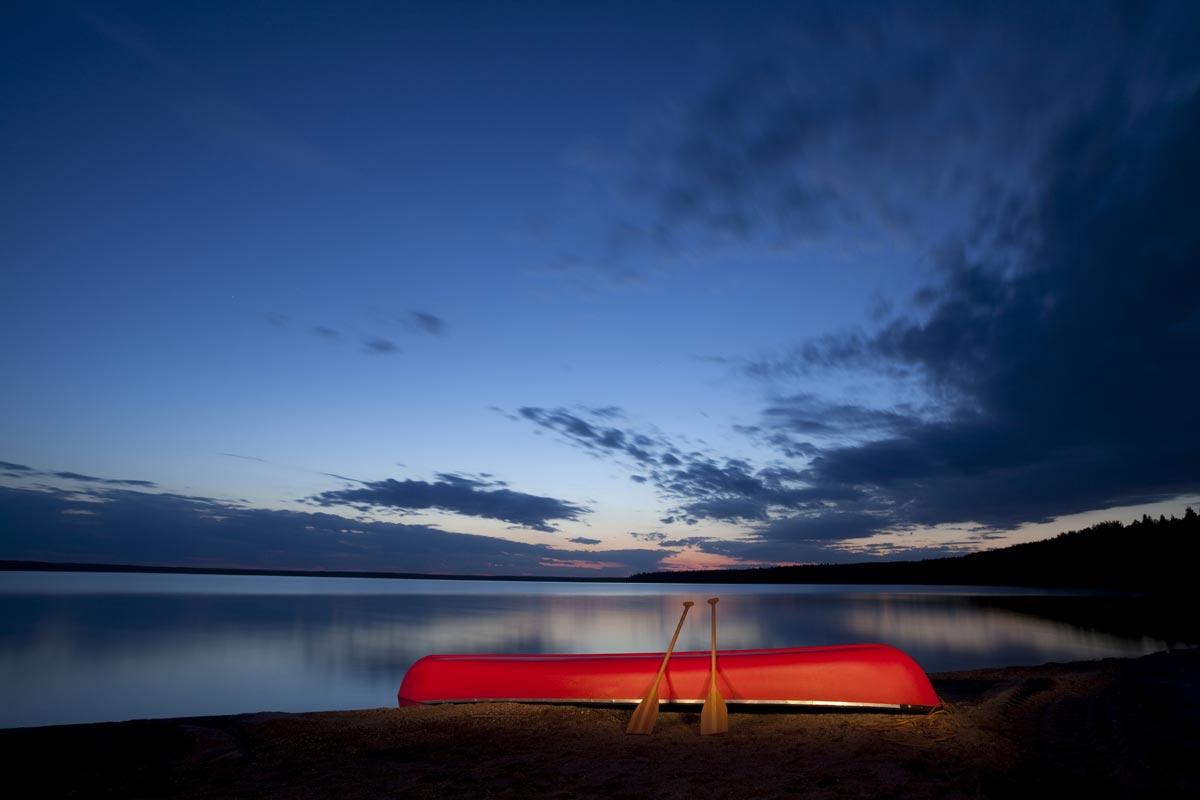 Canot sur le lac Monroe, Parc Mont-Tremblant