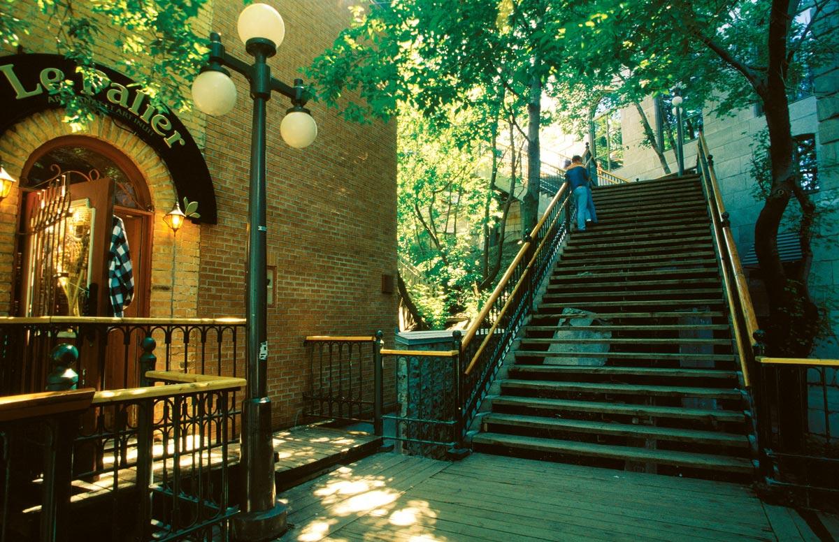 Les escaliers casse-cou, Vieux-Québec