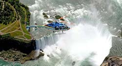 Helicopter ride over the Niagara falls