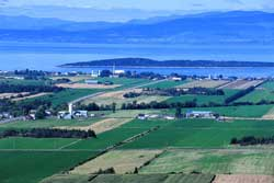 Vue aérienne de Kamouraska, Bas St-Laurent
