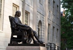 Statue of John Harvard, Cambridge