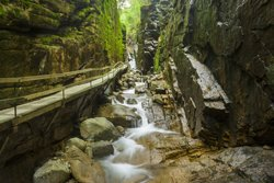 Flume Gorge located in Franconia Notch State Park