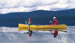 Canoeing on Clearwater Lake