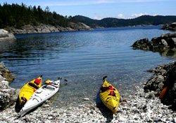 Kayak à Quadra Island, BC