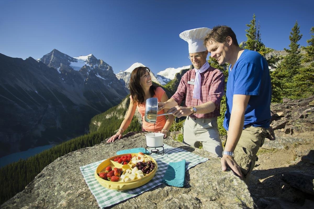 Rando et pique-nique de luxe au Lake Louise