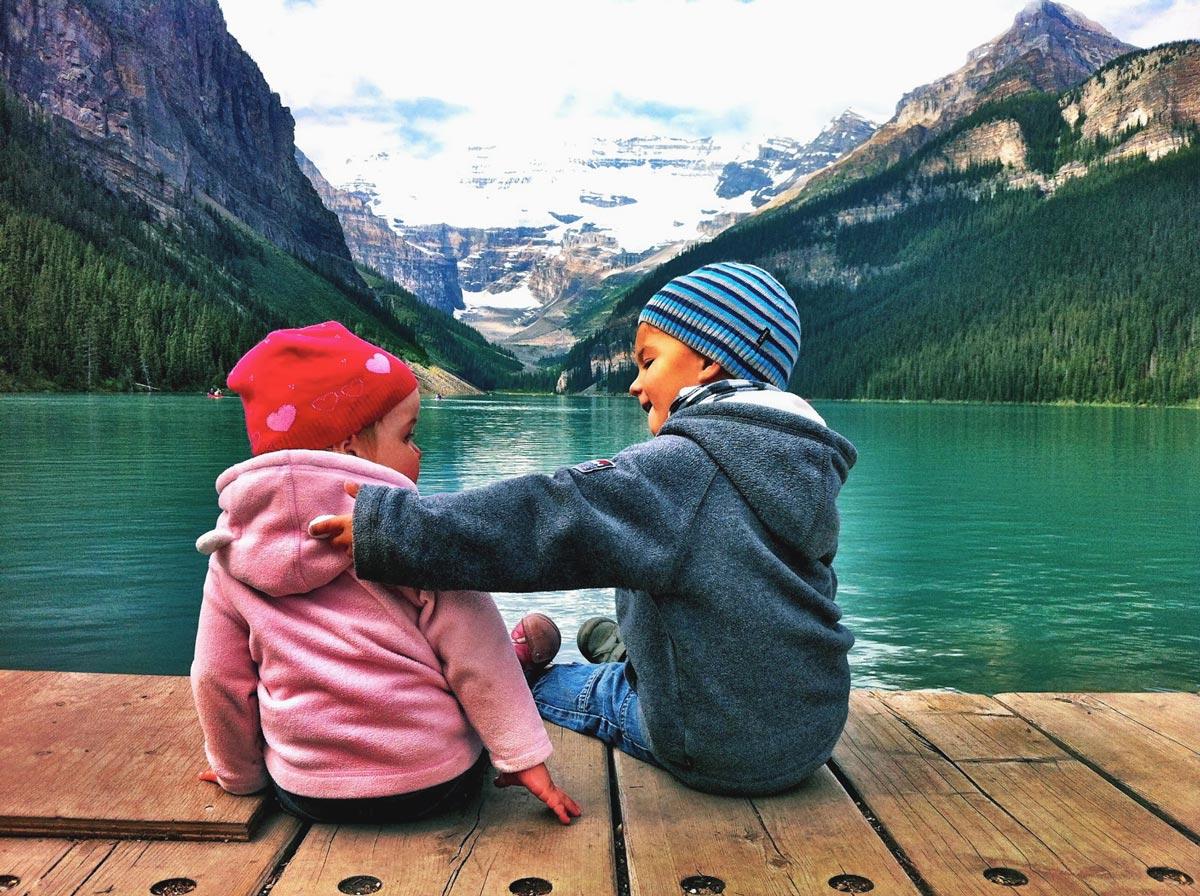 En famille au Lake Louise