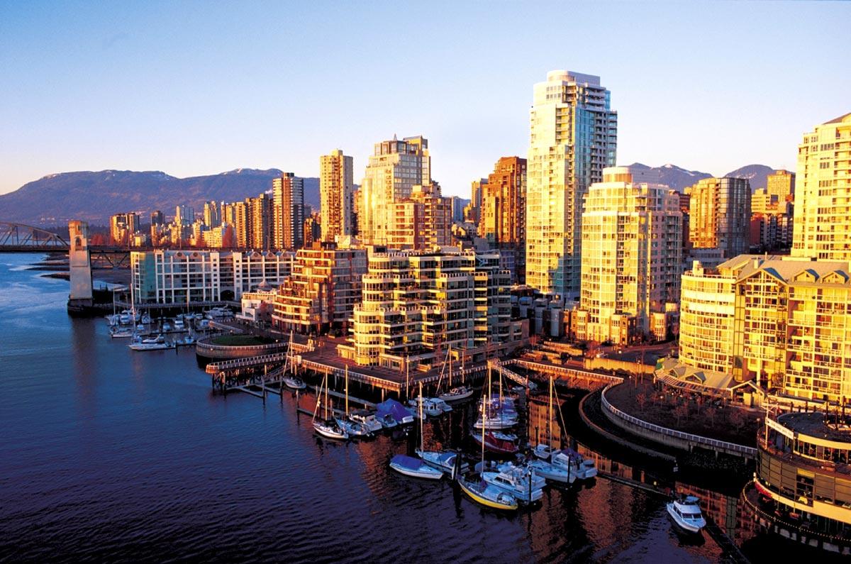 Coucher de soleil sur Vancouver