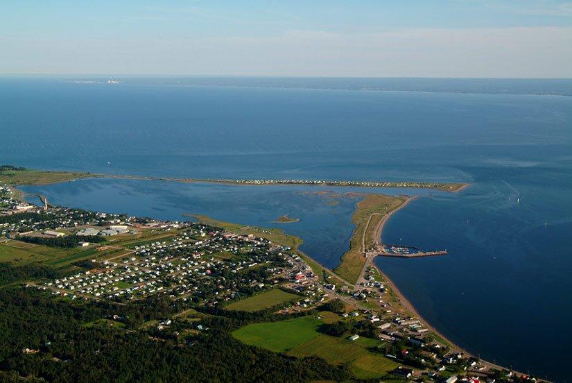 Vue de la ville de Carleton-sur-Mer