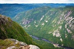 Vue des Hautes-Gorges