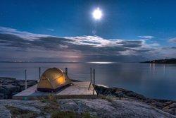 Crépuscule au Camping Mer et Monde