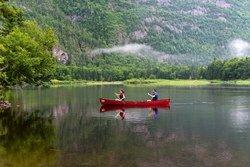 Randonnée en canot, parc des Hautes-Gorges