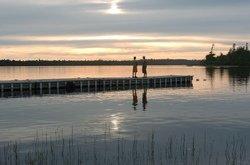 Coucher de soleil, Le Domaine, Lac-Pythonga