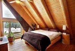 Chambre d'un chalet