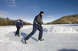 Patinage sur le Lac Morency