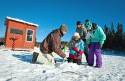 Les chalets Mekoos - Pêche sur glace