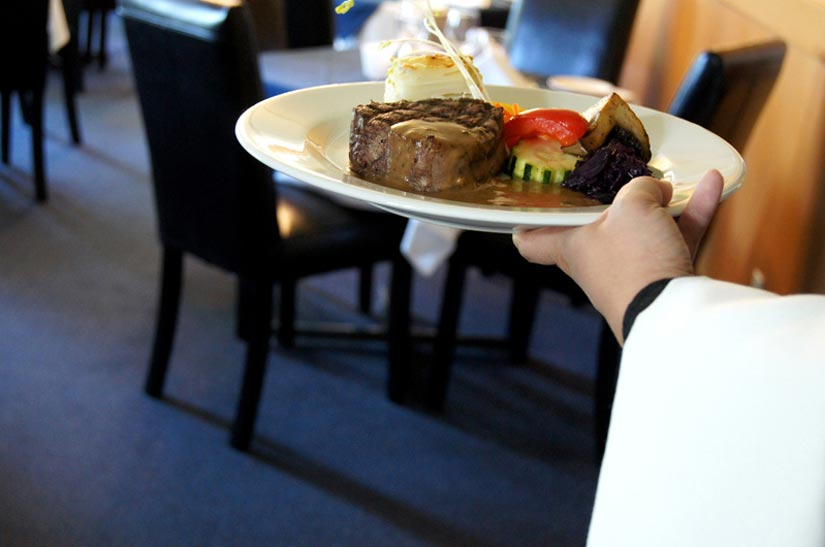 Repas à l'auberge du Mont Orford