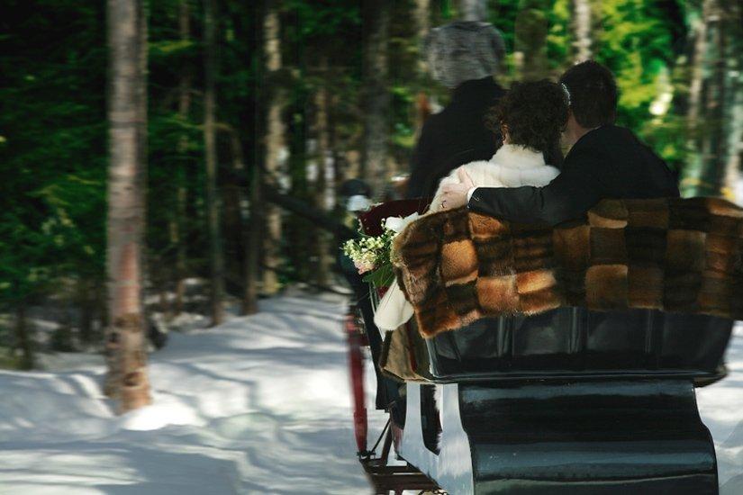 Pourvoirie Sacacomie - Balade en carriole