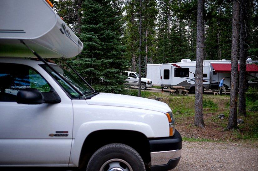 Camping du Lac Louise - Camping-car