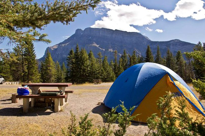 Camping Tunnel Mountain - Emplacement pour tente