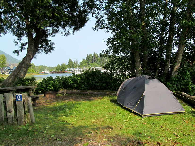 Camping Ucluelet - Tente