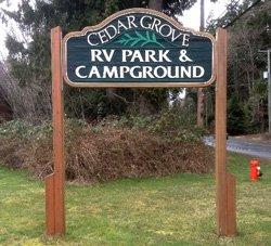 Camping Cedar Grove - BC, Canada