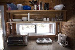 Cabane de bois Lanaudiere - Cuisine Racine