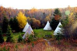 Rencontre avec les amérindiens -Coucher sous la tente