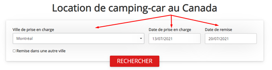 Location de camping car au Canada